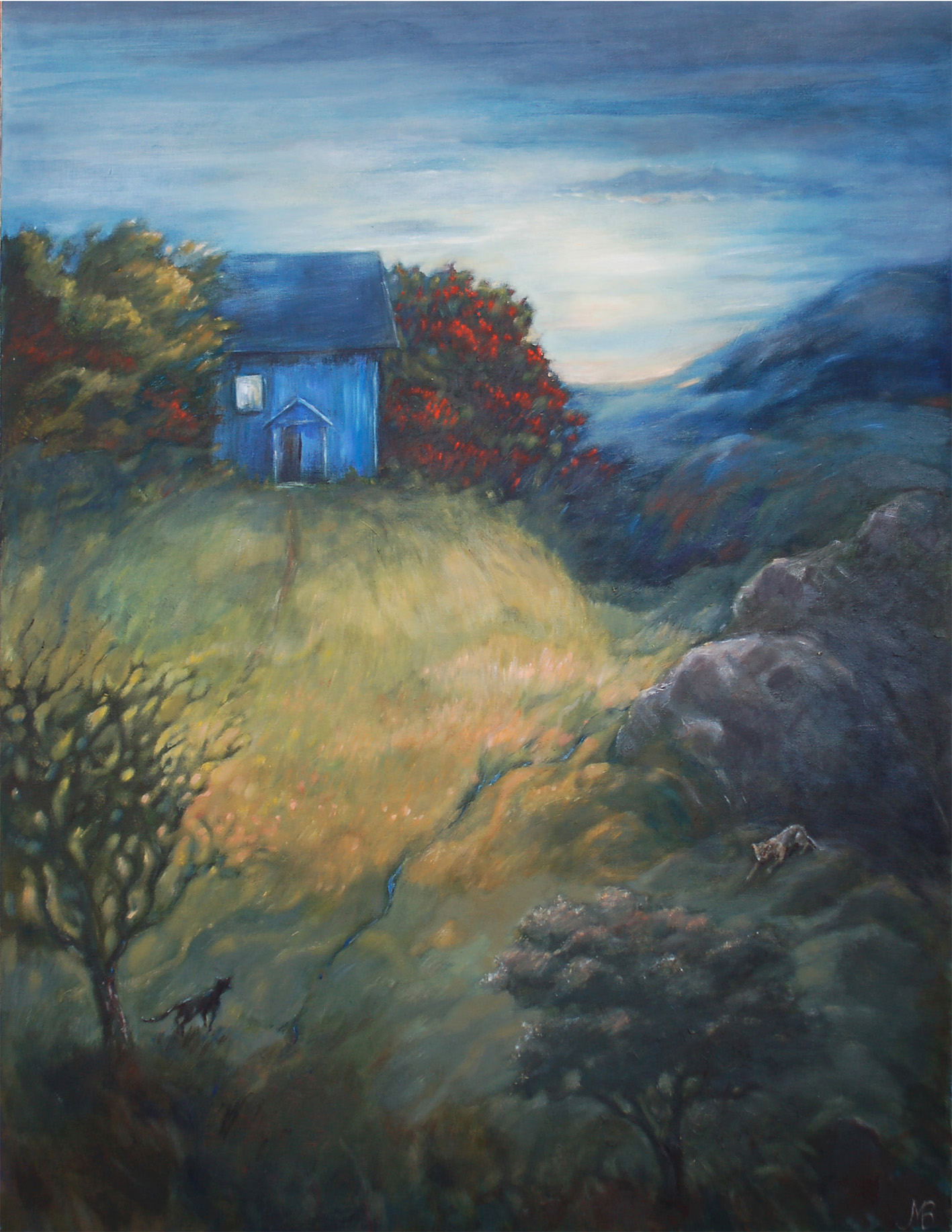 """The blue house"" Oil  65x81cm"