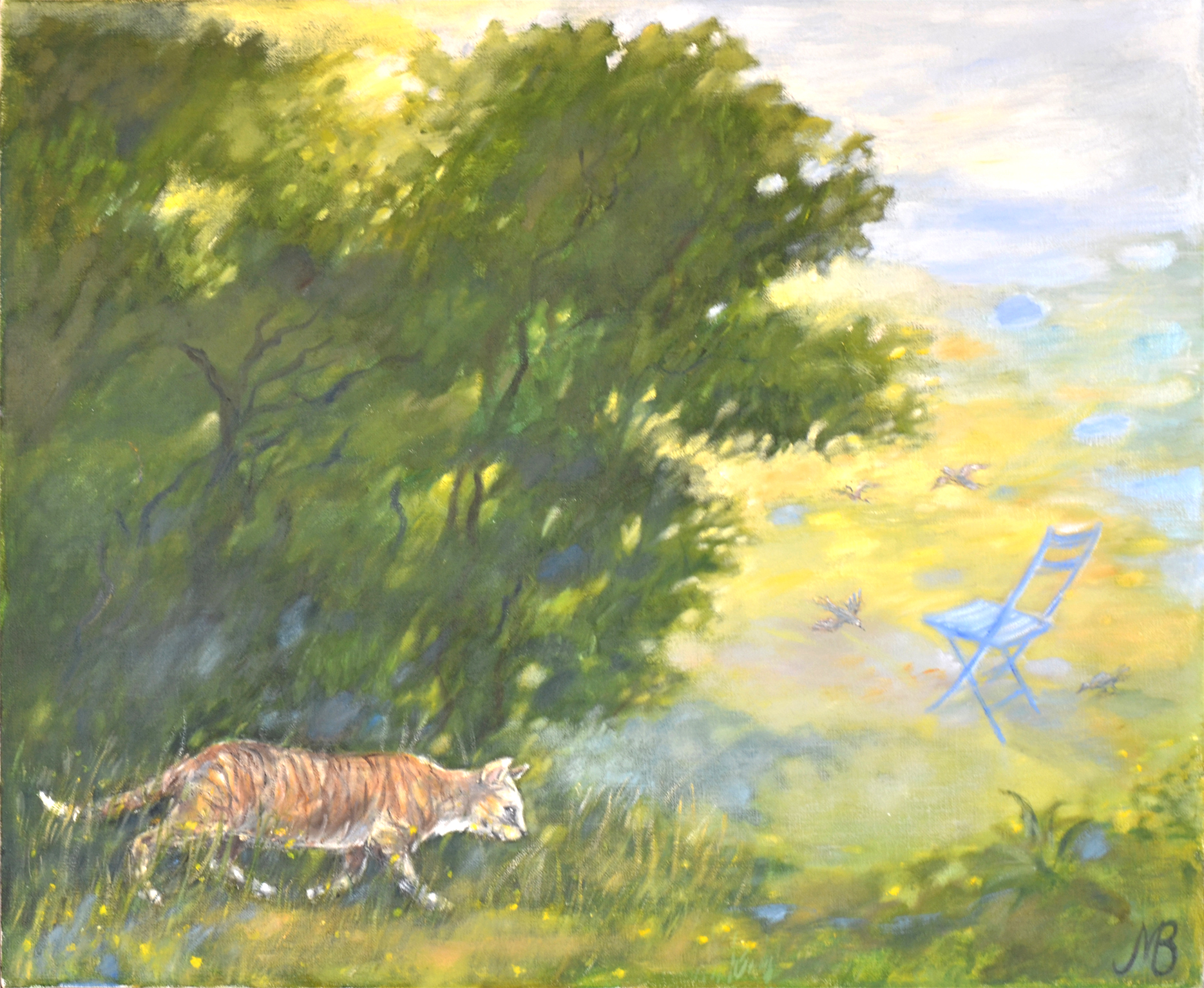 """Hunter"" oil  58x76cm"