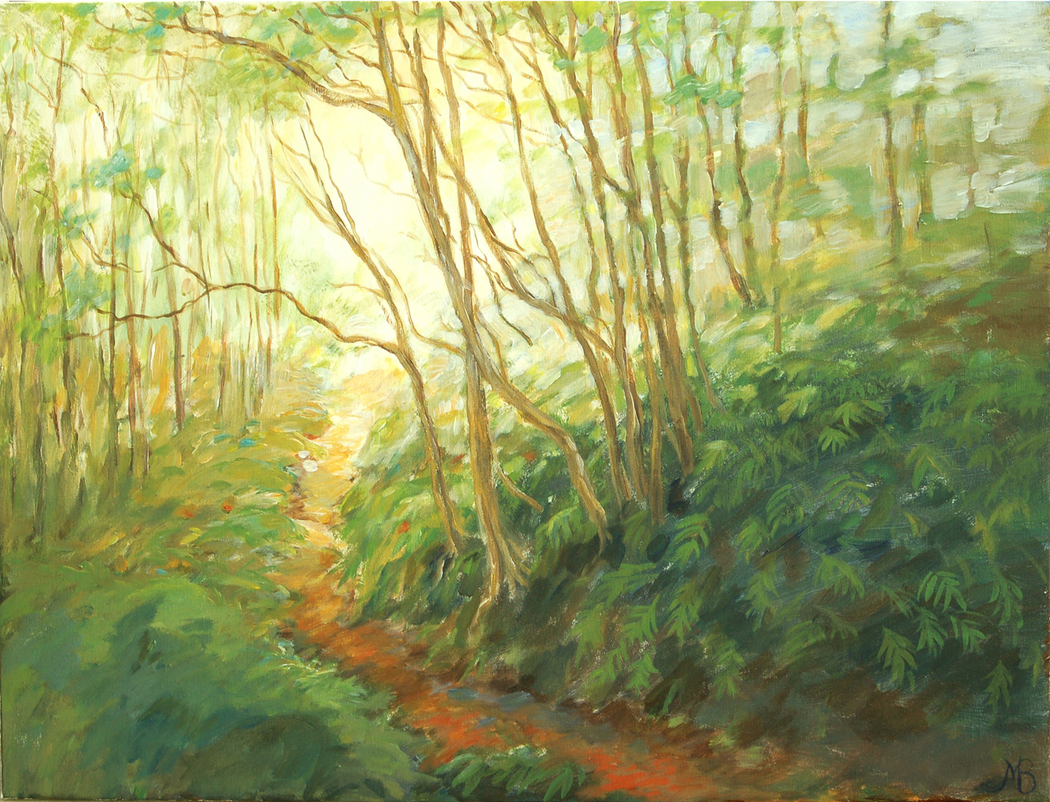 """Walking trade"" Azores   Oil  58x76cm"